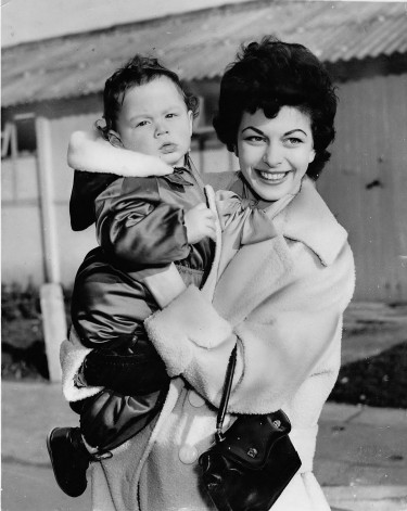 Joan Rice and her son