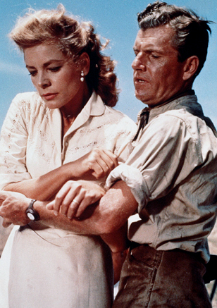 Kenneth More and Lauren Bacall