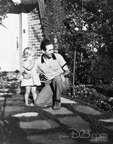 Walt with his little girl, Diane