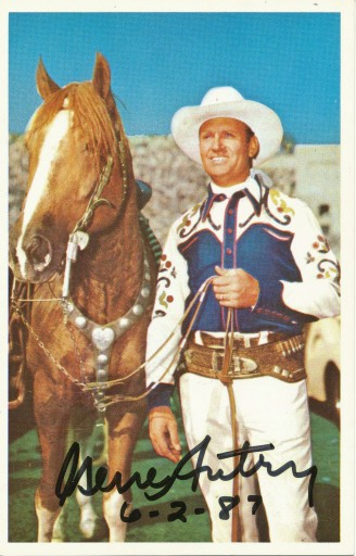 Gene Autry Signed Picture