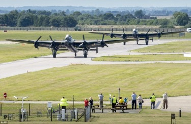 Lancaster Bombers at Coninsgby Aug 2014