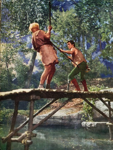 Robin-and-Little-John On the Bridge