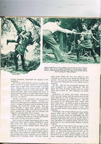 Richard Todd training for Robin Hood 1952
