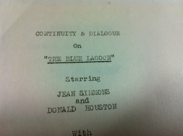 The Blue Lagoon Film Script 2