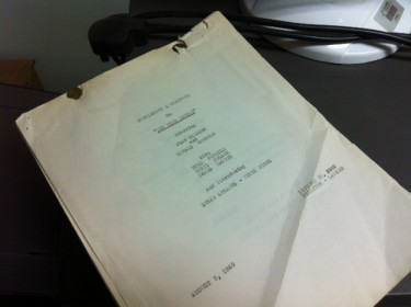 The Blue Lagoon Film Script