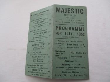 Cinema Programme 1952