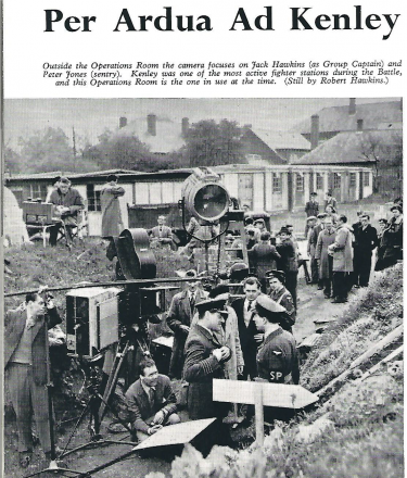 Filming at Kenley 1951