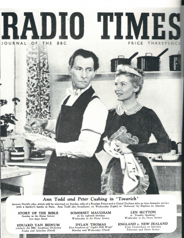 Peter Cushing and Ann Todd Cover Radio Times