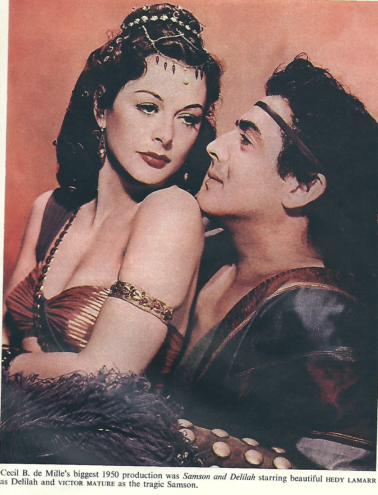 blog archive » a classic film still – victor mature and hedy lamarr