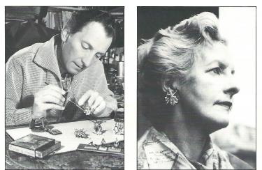 Peter Cushing at Home -Making earrings