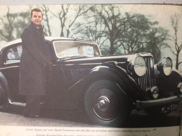 David Tomlinson with Jaguar 1950