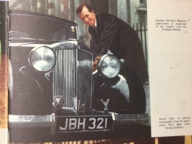 Michael Dennison with his Triumph Saloon