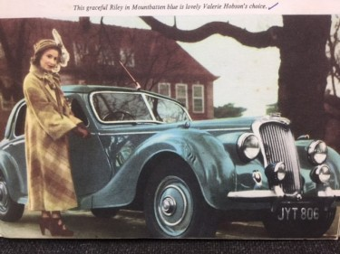 Valerie Hobson in her Car