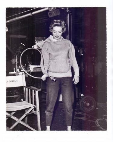 Vera Miles - On Set