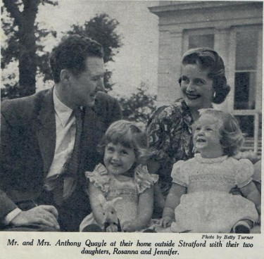 Anthony Quayle and Dorothy Hyson with their Children