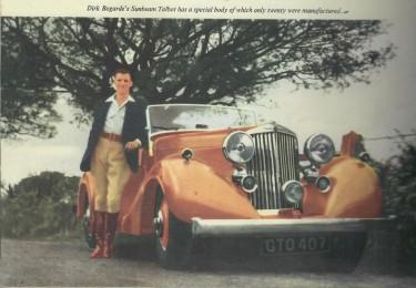 Dirk Bogarde with Sunbeam Talbot