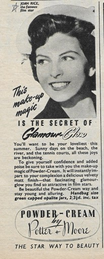 Joan Rice August 1951 Advertisement 2