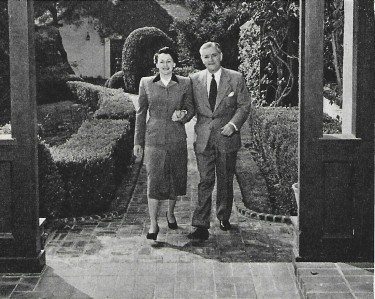 Ronald Colman and his Wife at Home