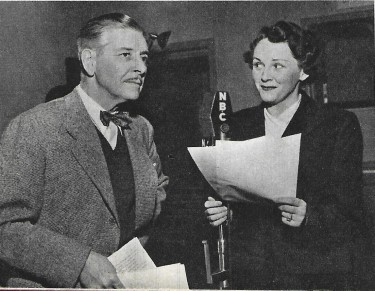 Ronald Colman and his Wife on Radio