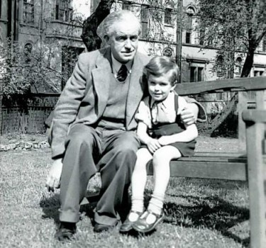 Arnold Ridley with his Son