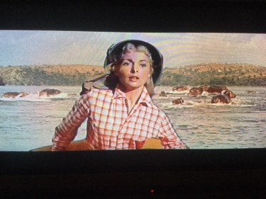 Janet Leigh on the River with Hippos