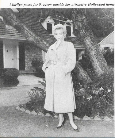 Marilyn outside her Home