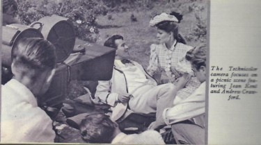 Jean Kent Filming