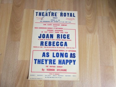 Joan Rice On Stage