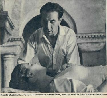 Castellani directs Susan Shentall in a scene