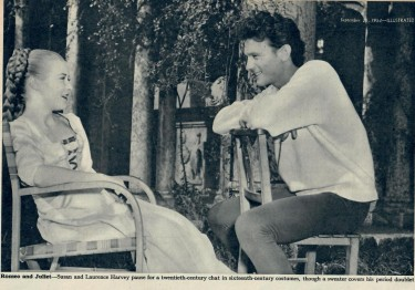 Laurence Harvey and Susan Shentall on set
