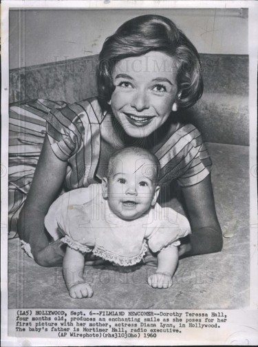 Diana Lynn with one of her children