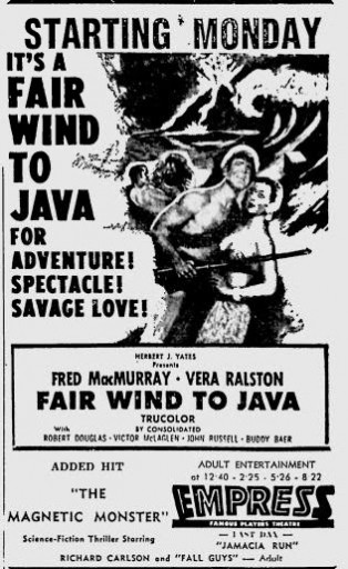 Fair Wind to Java - Poster 2