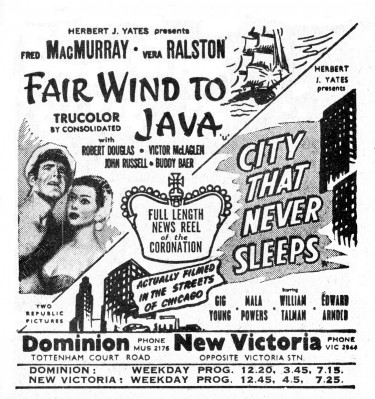Fair Wind to Java - Poster