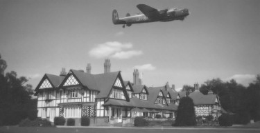 Lancaster Bomber over the Petwood Hotel