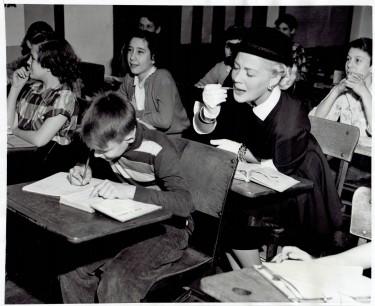Betty Hutton at School 1950