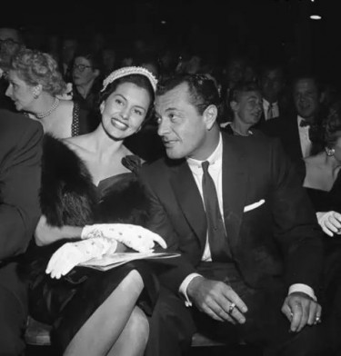 Cyd Charisse and her husband Tony Martin