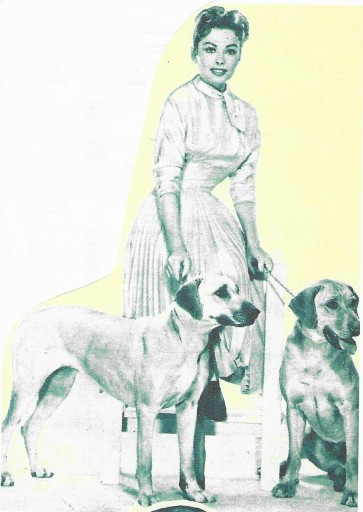 Jeanne Crain with her dogs 2