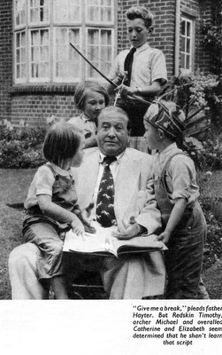 Jmaes Hayter at Home with his Children