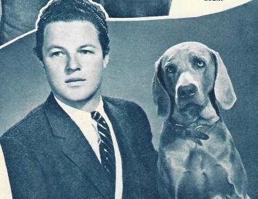Johnny Sheffield and his dog Kurt