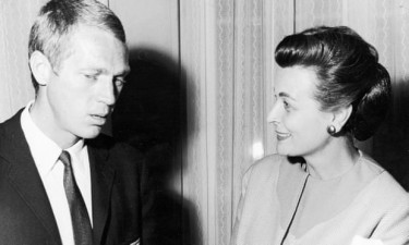 Margaretr Hinxman with Steve McQueen