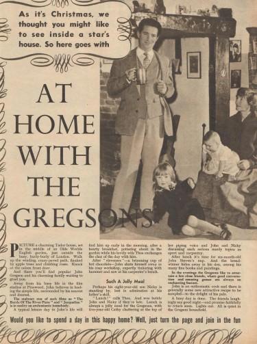 John Gregson at Home 1956