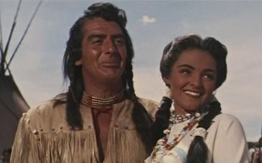 Suzan Ball with Victor Mature