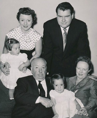 Alfred Hitchcock and family