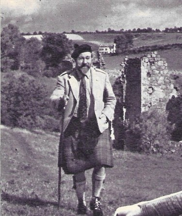 James Robertson Justice at Home in Scotland