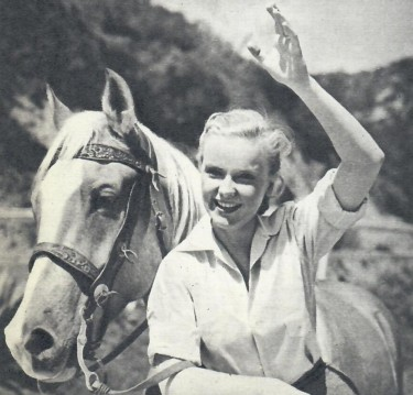 Anne Francis with her horse