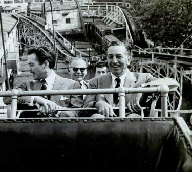 Richard Todd and Walt Disney at Colney Island