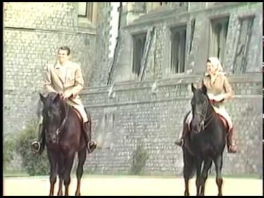 The Queen with Ronald Reagan at Windsor Castle in 1982