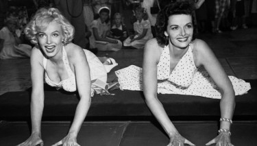 Marilyn with Jane Russell