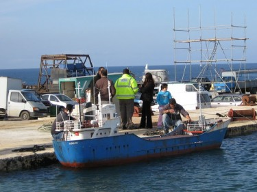 Model Boat on filming location
