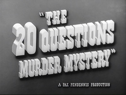 The 20 Questions Murder Mystery 1950 4